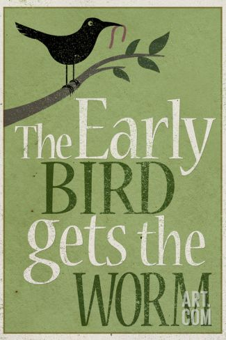 The Early Bird Gets the Worm Art Print at Art.co.uk