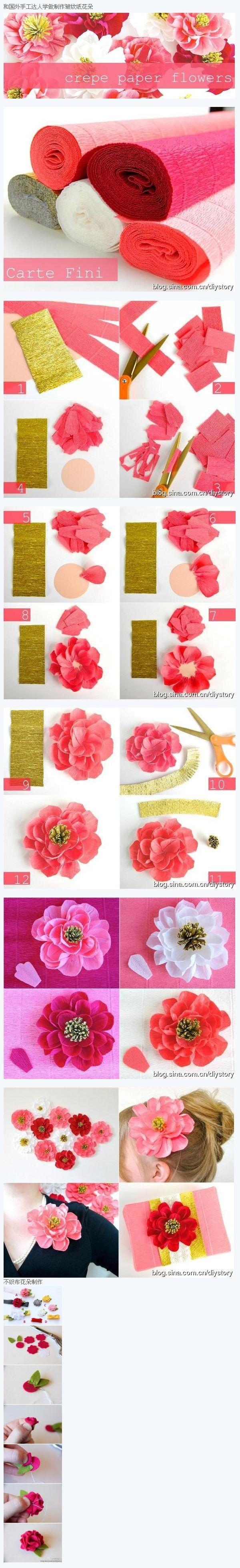276 best dobraduras e origami images on pinterest bricolage crepe paper flower jeuxipadfo Gallery