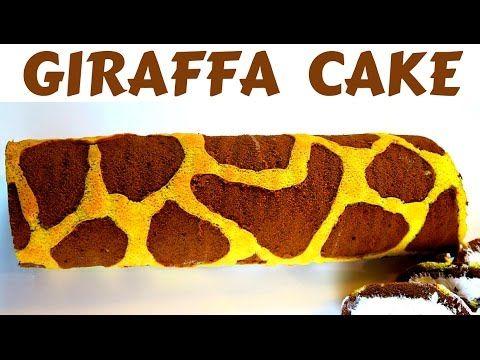 TORTA GIRAFFA FATTA IN CASA DA BENEDETTA - Homemade giraffe cake roll - YouTube