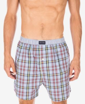 TOMMY HILFIGER Tommy Hilfiger Printed Woven Boxers. #tommyhilfiger #cloth # tommy hilfiger