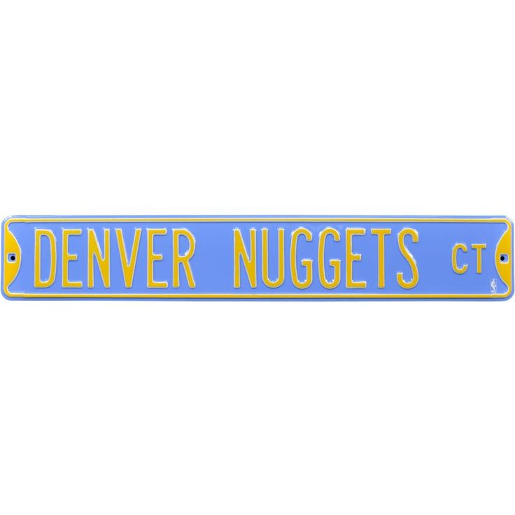 Authentic Street Signs Denver Nuggets Court Sign