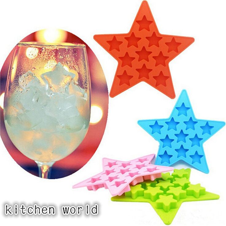 Creative Silicone Ice Lattice Mold 11 Grid Five-pointed Star Ice Boxes Pudding Box Ice Cube Mold Ice Tray  Kitchen Bar Tools C