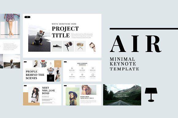 Air Minimal Keynote Template by Slidedizer on @creativemarket