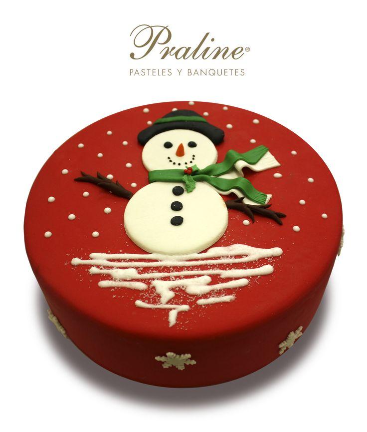 Delicioso pastel de snowman o muñeco de PralineMexico