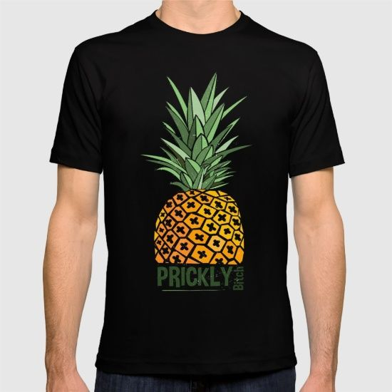 Prickly Bitch, fitted tee. Custom design pineapple typography for clothes, clothing, ladies tee also, great for yoga and aerial yoga.... takarabeech.com