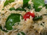 Lemon Orzo Salad with Spinach and Tomatoes Recipe...I've made this a few time. I add pine nuts. So good..