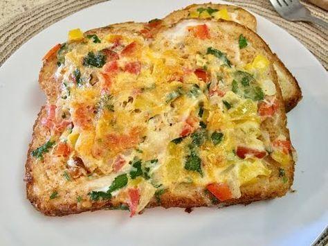 Omelette in a Hole. Omelette Breakfast. Simple Omelette. Omelette Bread. Bread Omelette Recipe - YouTube