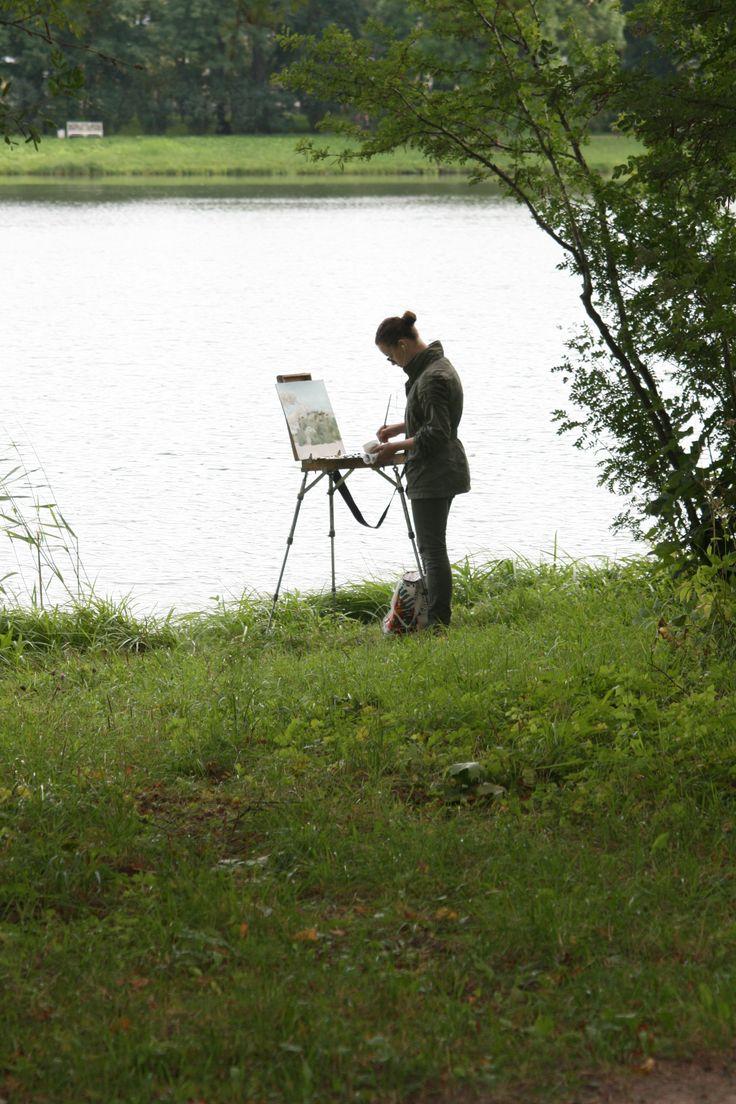 painter / Catherine park /   Tsarskoye Selo