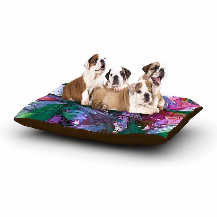 "Ebi Emporium ""Birds Of Prey - Tropical 3"" Green Pink Dog Bed"