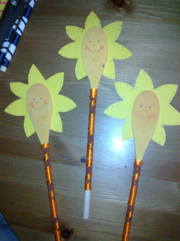 κουτάλες λουλούδι ήλιος
