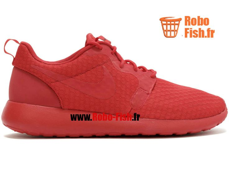 """Nike Roshe One Hyp """"Triple Red"""" - Chaussure Nike Running Pas Cher Pour Homme Rouge 636220-660"""