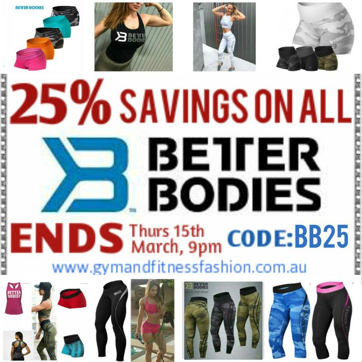 . MASSIVE BETTER BODIES SALE - Now On... While stock lasts. . SHOP⬆⬇ Use Code: BB25✅ www.gymandfitnessfashion.com.au @gymandfitnessfashion.com.au . Quality Style, SIZES from XS to XL . #gymandfitnessfashion #gff #sportswear #fitnessfashion # #fitgirls #fitmom #shelifts #girlswholift #fit #fitspiration #fitstagram #motivation #fitspo #shape #ifbb #running  #fitness #leggings #healthy #lifestyle #dedication #yoga #bodybuilding #streetwear #running #zumba #follow #squats #healthy #gym