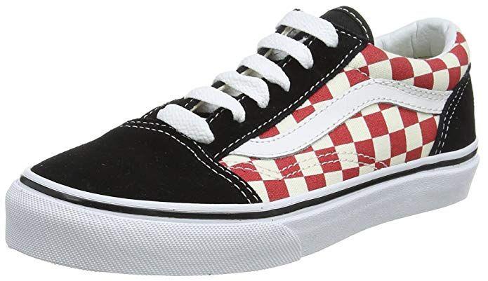 Vans Old Skool Sneaker Unisex Kinder Rot Weiss Kariert Schwarz Vans Old Skool Sneaker Kinder Schuhe