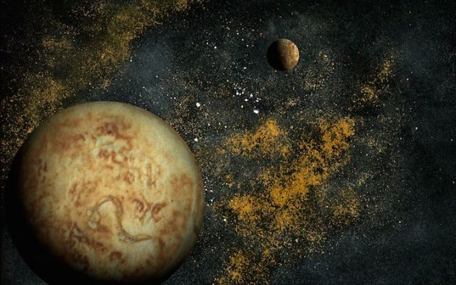 Un fotografo crea immagini dello spazio usando frittelle, pepe nero e bicarbonato Il fotografo statunitense, Navid Baraty, è sempre stato affascinato dalle immagini dello spazio cosmico. Così ha deciso di ricreare le immagini che di solito ci mostra la Nasa usando solo uno scanner #arte #fotografia #astronomia