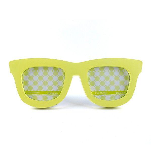 Porta Retrato Duplo Óculos Amarelo