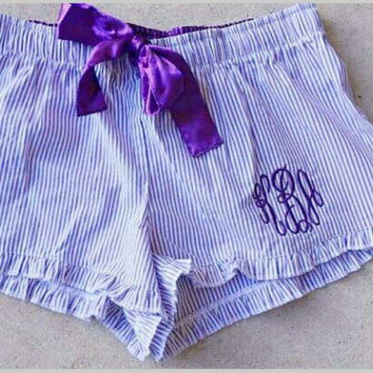 monogrammed pj shorts