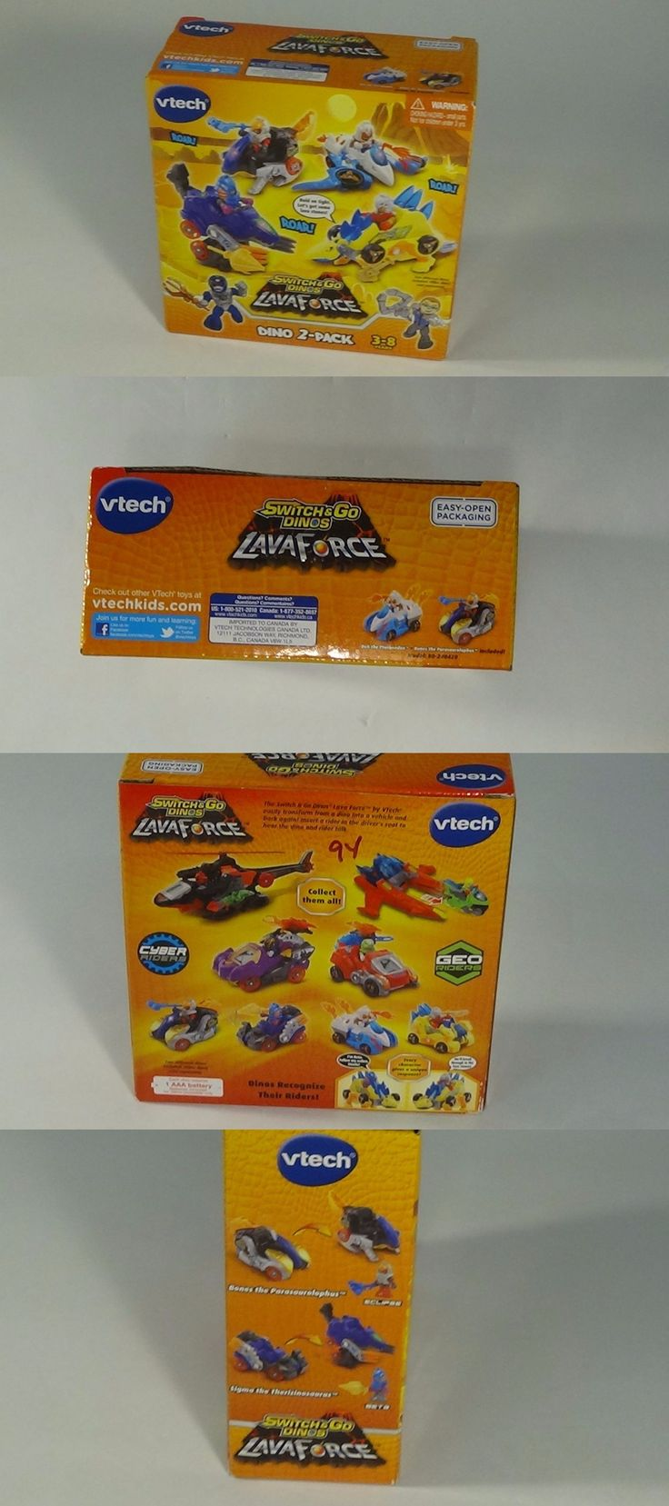 Animals and Dinosaurs 175692: Rare Vtech Switch And Go Dinos Lava Force Dino 2-Pack Dek And Bones Toy -> BUY IT NOW ONLY: $40 on eBay!