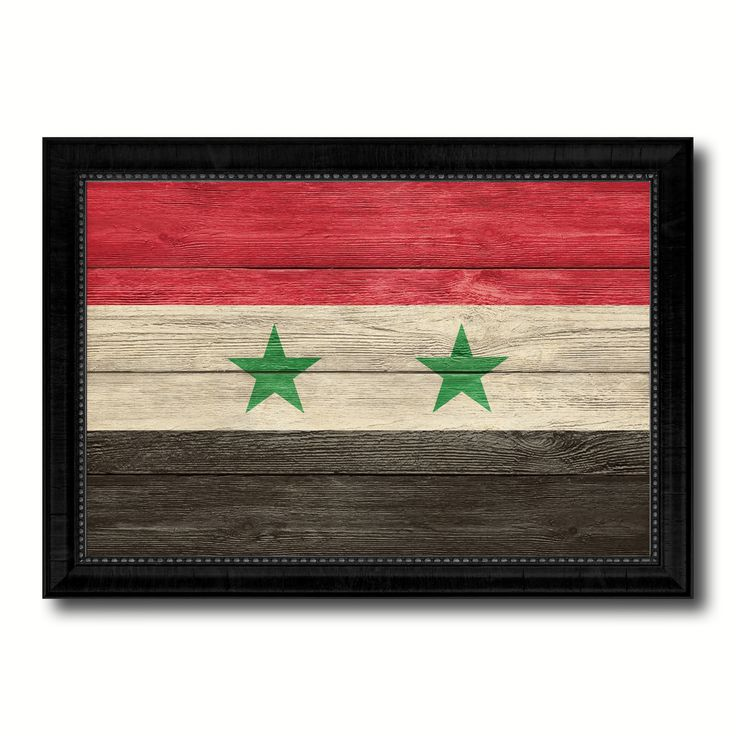 Syria Country Flag Texture Canvas Print, Picture Frame Home Décor Wall Art Gift Ideas