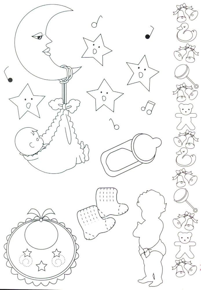 Riscos bebês pintura em fraldas