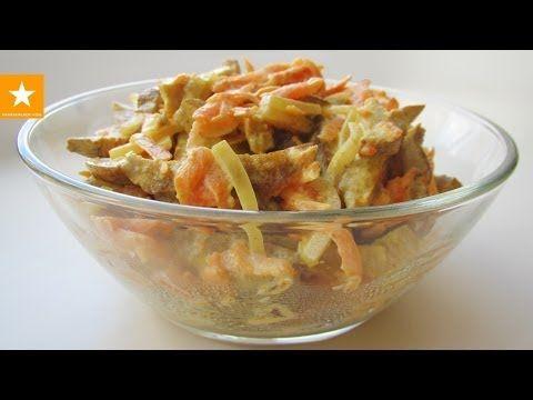 Теплый белковый салат из сейтана от Мармеладной Лисицы - YouTube