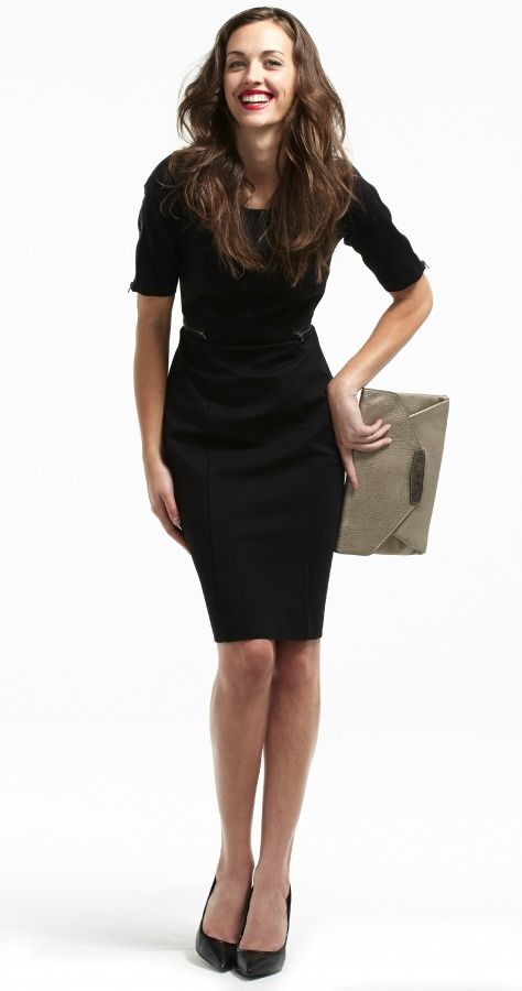 Simone sheath dress with zipper detail. Only at Plum!