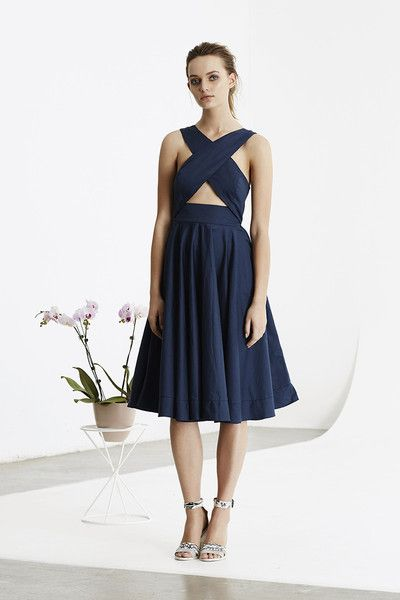 May the Label  - Compendium Dress Blue - May The Label