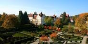 Donau-Bodensee-Radweg: Schloss Salem mit Garten