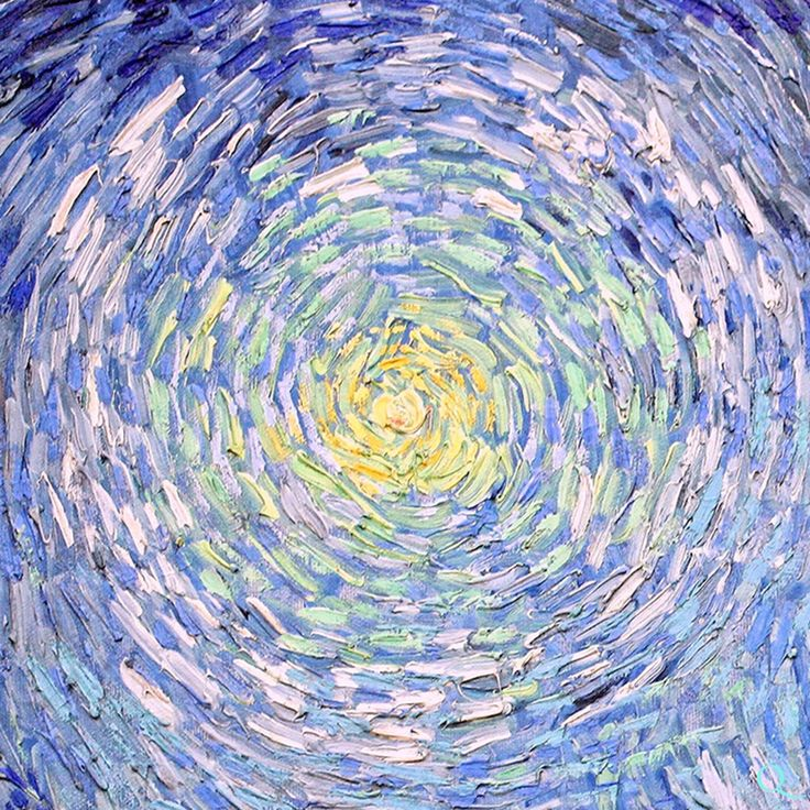 Van Gogh - what was he seeing that led him to represent the sun and sky in this way?