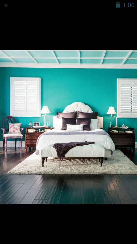Turquoise Wall Would Love A Master Bedroom Like This