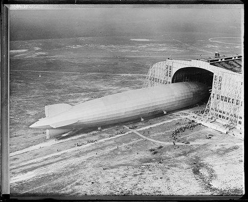 Graf-Zeppelin arriving in N.Y. for second time