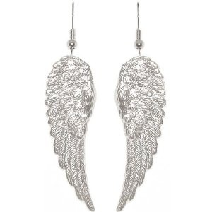 "1 7/8"" Angel Wings Earrings In Silver Tone $9.99  Have a pair just like these but these are Wayyy hotter!"