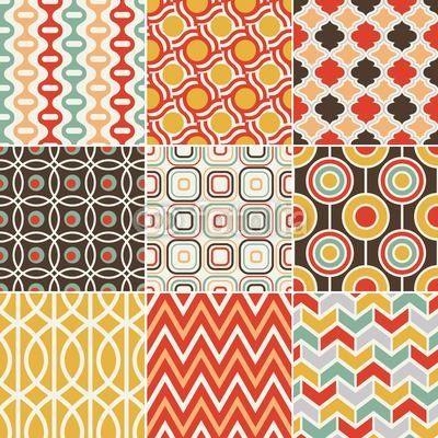 Papier peint rétro seamless pattern Plus