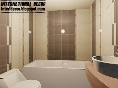 Captivating 3d Tiles Design For Small Bathroom Design Ideas, Cream Brown Ceramic Tiles  For Baths Part 26