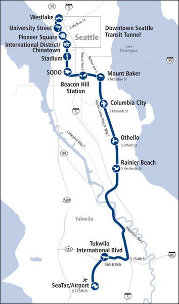 Link Light Rail - Getting Around - Seattle Southside