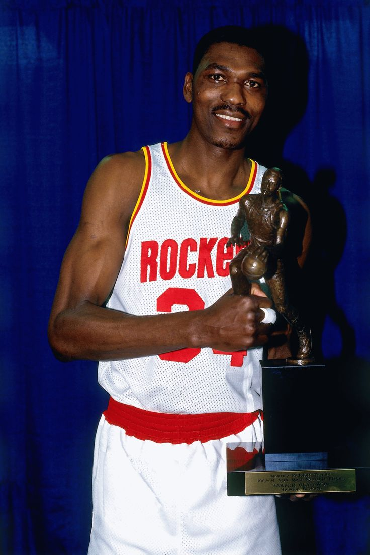Hakeem Olajuwon after winning the 1993-1994 NBA MVP.    For all the latest Houston Rockets news and updates, visit www.rockets.com.