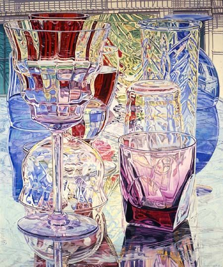 Acrylic still life painting by Janet Fish