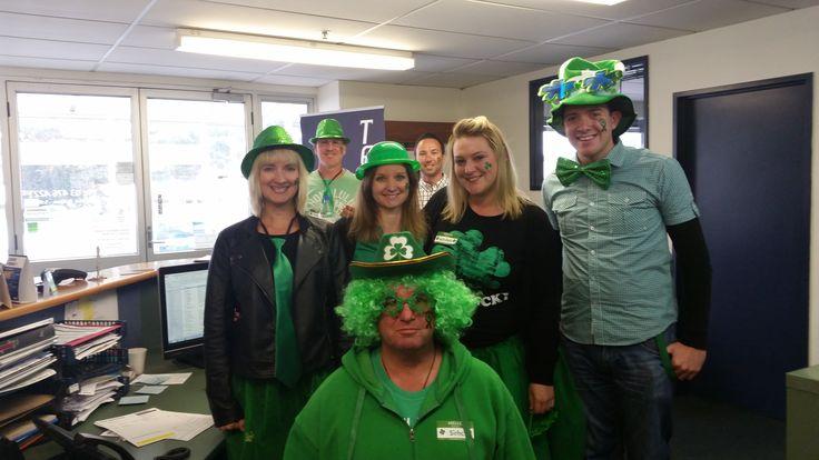 The Novadown team celebrating St Patricks Day!