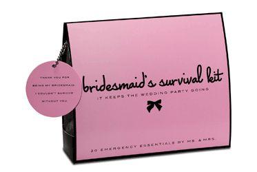 Bridesmaid's Survival Kit - Wedding Day Emergency Kit $25.00