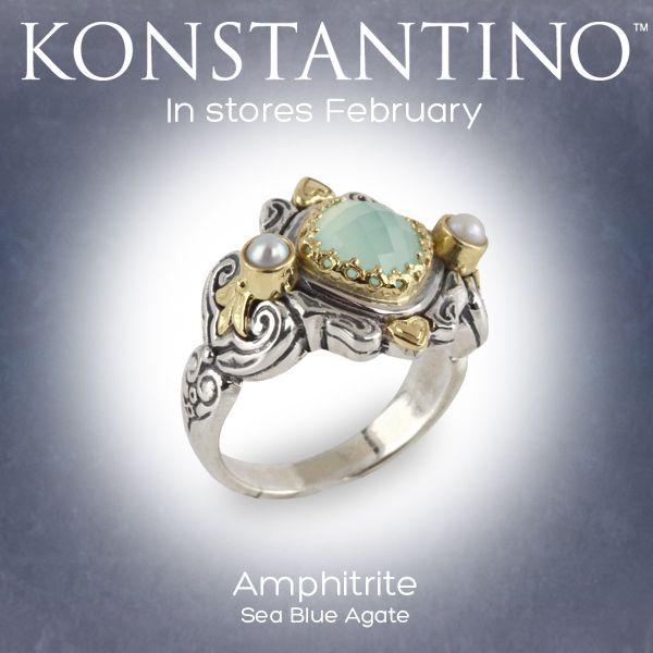 #konstantino #jewelry #greece #jewels #treasure #womensfashion #amphitrite #seablueagate