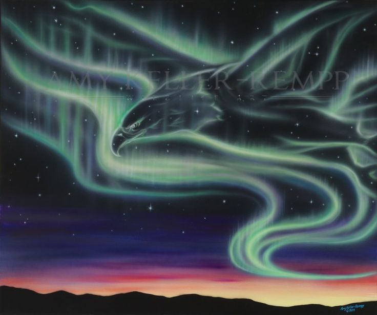 "Sky Dance Series - ""Big Eagle"" by Amy Keller-Rempp Art. 30"" by 36"" acrylic on…"