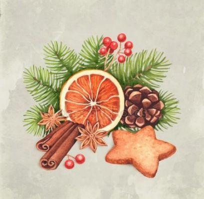 Watercolor Christmas card — Stock