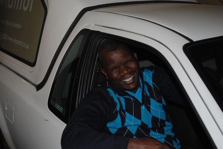 Our joyful driver Aaron :) JHB