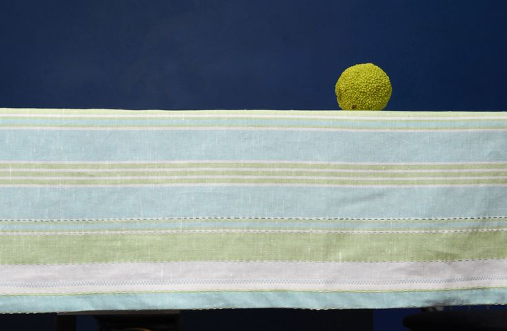 Vintage Linen Tablecloth Hand-Embroidery With Sashiko Stitching