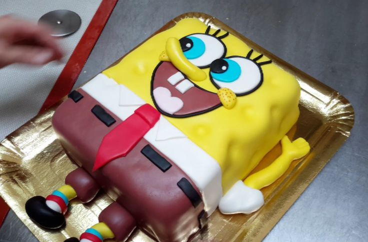 SpongeBob Square BIRTHDAY CAKE - How To Make. Tutorial by Cakes StepbyStep