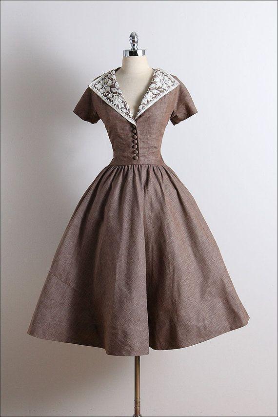 Vintage 50s Dress vintage 1950s dress by millstreetvintage #womensfashionvintage…