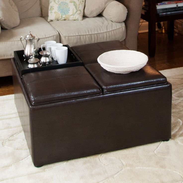 Best 25 Black leather ottoman ideas that you will like on