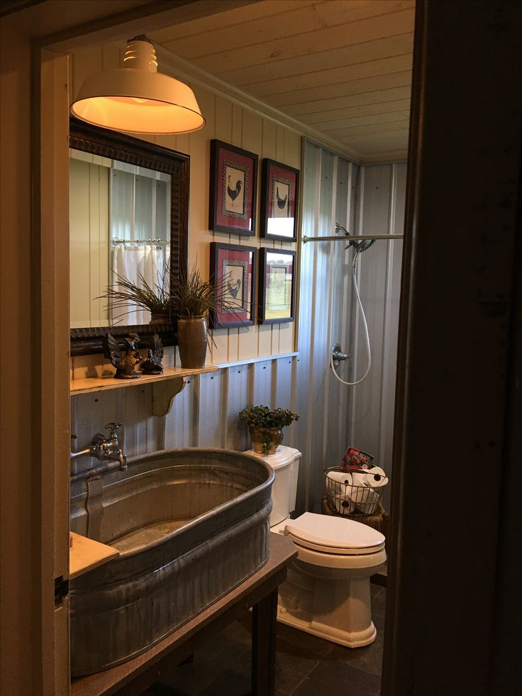 985 best mobile home living images on pinterest bathroom Rustic country style bathrooms