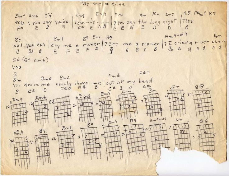 cry me a river chords - Google Search
