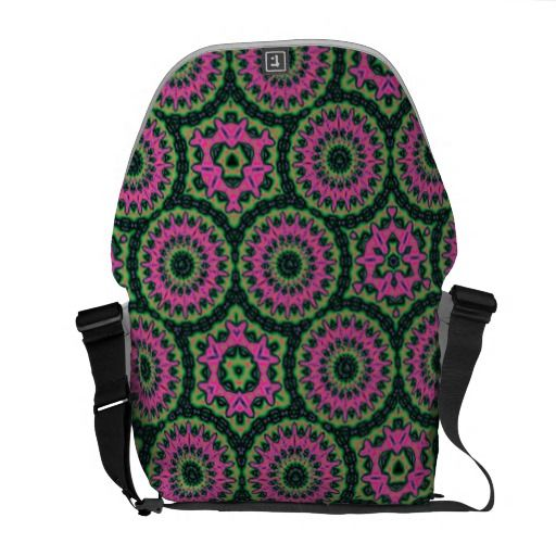 Unique multicolored abstract pattern messenger bag