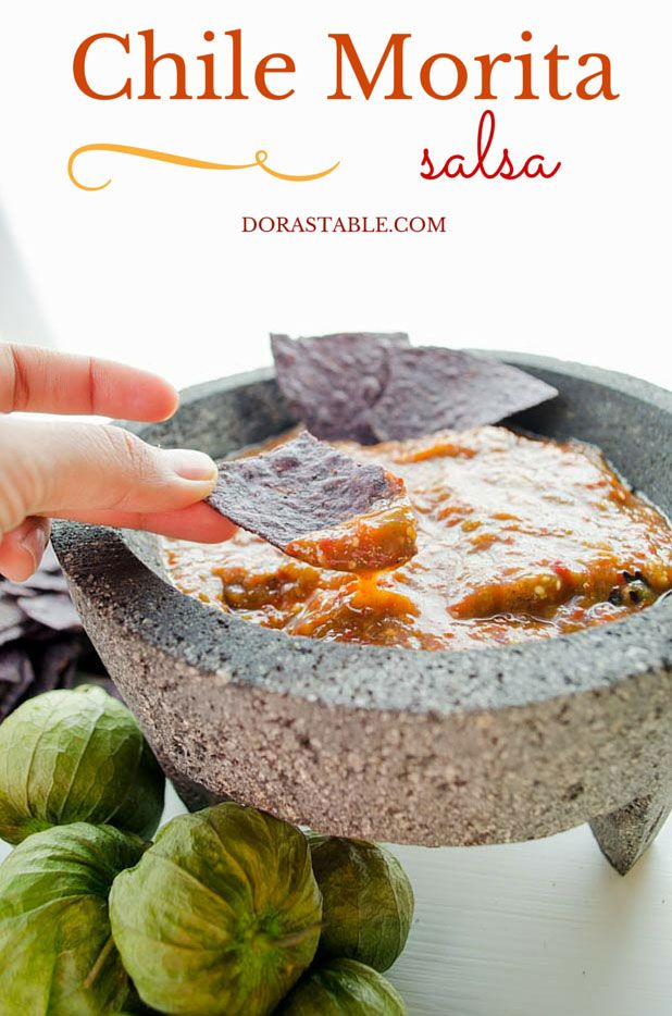 Chile Morita Salsa, spicy, tangy and smoky.